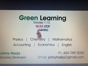 Green Learning Home Tutors, All Grades: Experienced and Educated