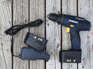 Mastercraft NiCad Cordless Drill/Driver, 14.4V Two Batteries