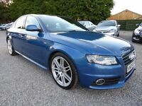 Audi A4 2.0 T FSI S-LIne Limited Edition, Very Low Miles, Half Leather, Stunning Car Throughout