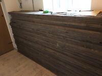 Reclaimed floor boards