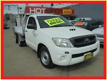 2009 Toyota Hilux KUN16R MY10 SR White 5 Speed Manual Cab Chassis Holroyd Parramatta Area Preview