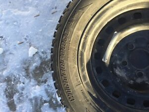 Reduced winter tires on rims - Firestone Winterforce - 225/60R16