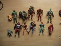 Collectible action figures from the 80s onwards