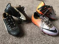 2 x Boys football Boots Puma 12 & Nike 12.5 (£10 for both, or £7 each)