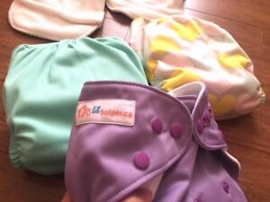 New Lil Helpers Baby Cloth Diapers + Charcoal & Bamboo Inserts