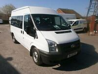 Ford Transit T300 MWB Shuttle Bus 9 Str DIESEL MANUAL WHITE (2013)