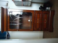 Chest of drawers and display cabinet