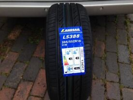 205 55 16 w rated M+S landsail tyres brand new
