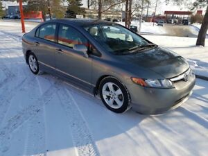 2007 Honda Civic, 4 dr, 5 speed, loaded, only 132,000 km.