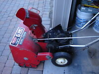 SnowBlower, Single Stage, Needs Engine, 100% Complete Body