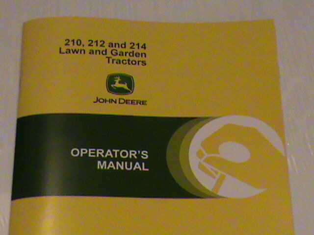 NEW JOHN DEERE 210 212 214 OPERATORS MANUAL OM-M81