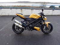 2013 Ducati 848 streetfighter in excellent condition, yellow in colour,fsh,two owners