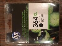HP 364 ink cartridges - 1 XL Black BRAND NEW (no broken seals) 2 black & 3 colours NEW but opened.