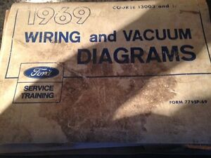 1969 Ford wiring and vac, line routing book.