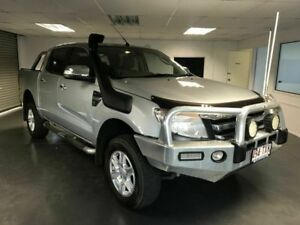 2014 Ford Ranger PX XLT Double Cab Silver 6 Speed Automatic Utility North Toowoomba Toowoomba City Preview