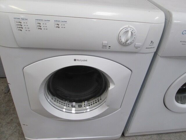 **HoTpOiNt 7KG DRUM TUMBLE DRYER+NEW HOSE/FREE LOCAL DELIVERY/VERY CLEAN/WORKS GREAT/