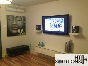 installation tv sur mur quipement lectronique dans laval rive nord petites annonces. Black Bedroom Furniture Sets. Home Design Ideas