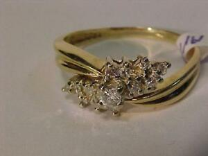 #3226- OVER 1/4ct. of diamonds-14K Y/Gold-VALUED @ $1,750.00 BUY for just $475.00 Free Layaway and shipping-Canada Only-