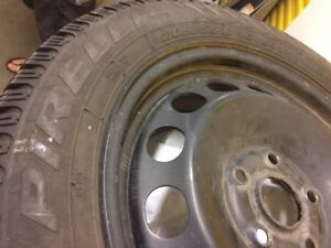 16 inch Pirelli Snow Tires on Rims Used Only One season
