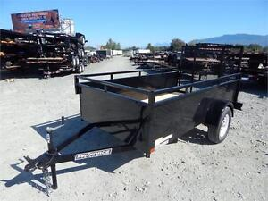 NEW 5'x10' LANDSCAPE STEEL SIDE UTILITY TRAILER RAMP GATE 2990LB