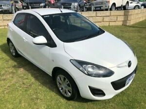 2012 Mazda 2 DE10Y2 MY12 Neo White 5 Speed Manual Hatchback Wangara Wanneroo Area Preview