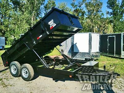 New 2021 7x14 7 X 14 14k Gvwr Hydraulic Dump Trailer Equipment Hauler 24 Sides