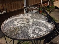 Marks And Spencer's Mosaic Garden Table & Chairs