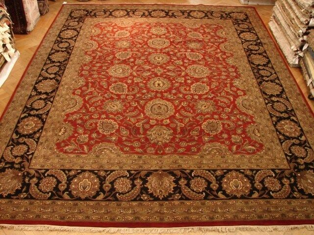 12x15 Fine Quality Jaipur Rug  Warm Red & Black