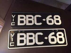Custom Plates, B&W, Vic, BBC-68 Wendouree Ballarat City Preview
