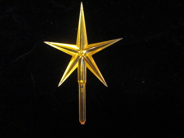 Vintage Ceramic Christmas Tree lights, bulbs  Lg Modern Yellow  Star SPECIAL