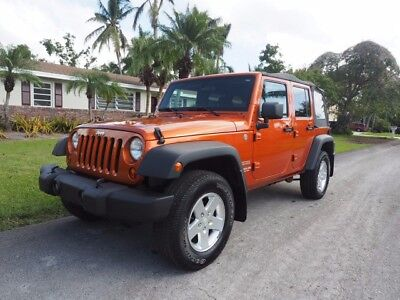 2011 Jeep Wrangler Unlimited Sport 4WD 4x4 4 DOOR - PWR EVERYTHING -STOCK Florida JEEP in SEXY Mango Tango 12 13 14 15