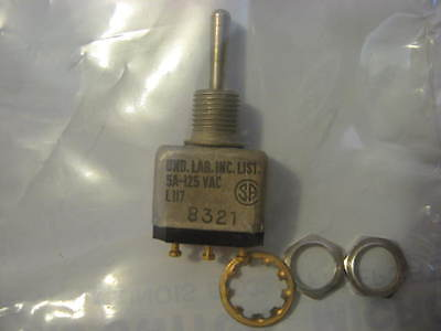 1tw1-1 Micro Toggle Switch Ms27716-21 Spdt 3 Position 5 Amp 125 Vac Mil-spec