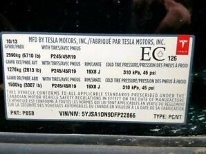 Tesla model S 2013 RWD SHELL ONLY