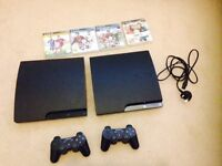 2 x Playstation 3 + 4 games and 2 controllers