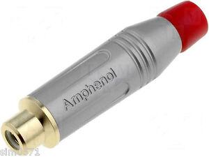 AMPHENOL-ACJR-SRD-Presa-RCA-rossa