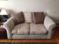 2 x pre-owned 2 seater beige sofas for sale, decent condition | DFS
