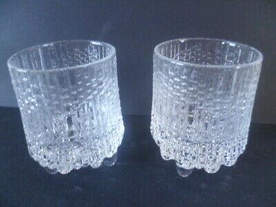 2 Vintage Iittala Ultima Thule Shot Schnapps Glass Tapio Wirkkala 5.7 cm Tall