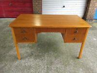 Writing desk, in beautiful wood, 4 drawers