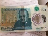 five pound note AK22726183