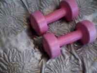 body sculpture weights, pink,£5...07778055133, nice pink colour,as shown