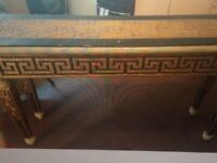 Console Table (Ornate Gold/Black) Vintage/Shabby Chic