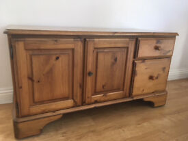 Solid Pine Sideboard with two drawers.