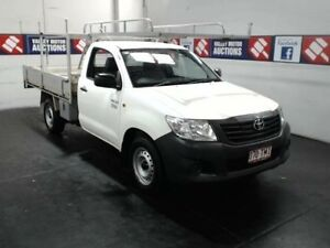 2013 Toyota Hilux TGN16R MY14 Workmate White 5 Speed Manual Cab Chassis Cardiff Lake Macquarie Area Preview