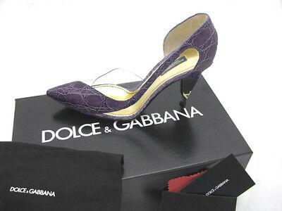 NEW Dolce & Gabbana Genuine Alligator Shoes (Heels)!  US 8.5 e 38.5  *PURPLE*