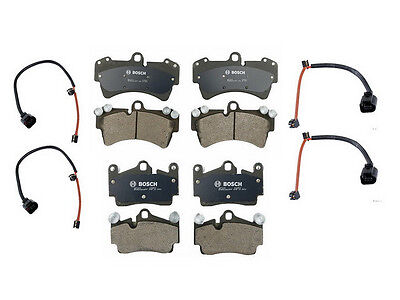 Porsche Cayenne V8 (2003-2006) Front and Rear Brake Pads and Sensors NEW BOSCH