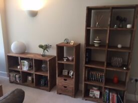 John Lewis Solid Wooden Freestanding Shelf Unit with Drawers