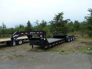 2014 P.J. 29ft. Gooseneck Tilt Equipment Trailer