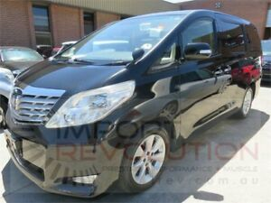 2009 Toyota Alphard ANH20W 240G Black Constant Variable Van Wagon Bayswater Knox Area Preview