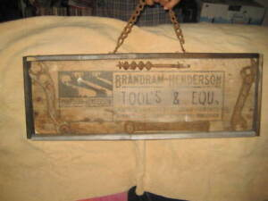 SIGNS OLD ERA WOODEN HANGING SERVICE SIGNS SEE AD FOR $$