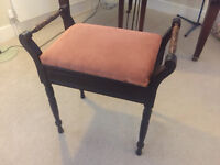 Wooden antique piano stool